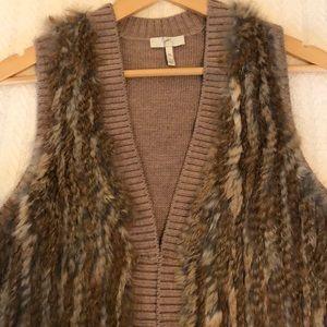 Joie real fur vest